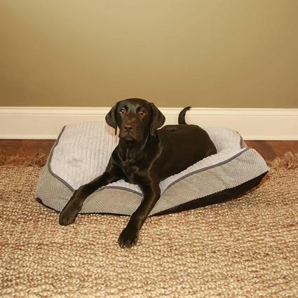 Plush Pet Bed, Gray