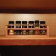 Solid Oak Spice Rack