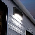 Premium Outdoor Speaker & LED Awning Light with App Control, Black