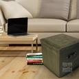 Folding Storage Ottoman - Microsuede, Sage