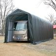 Peak Style Shelter 15 x 40 x 16 Gray Cover