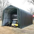 Peak Style Shelter 15 x 40 x 16 Green Cover