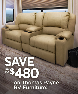 Save up to $480 on Thomas Payne RV Furniture!
