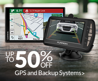 Save up to 50% off GPS and Backup Systems